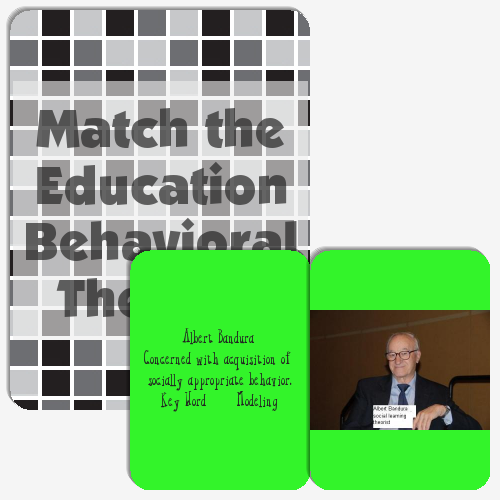 Match the Education Behavioral Theorist