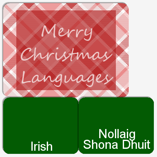 Match the language with how they say Merry Christmas!