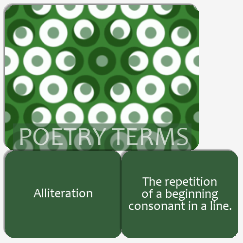 Ninth Grade Poetry Terms