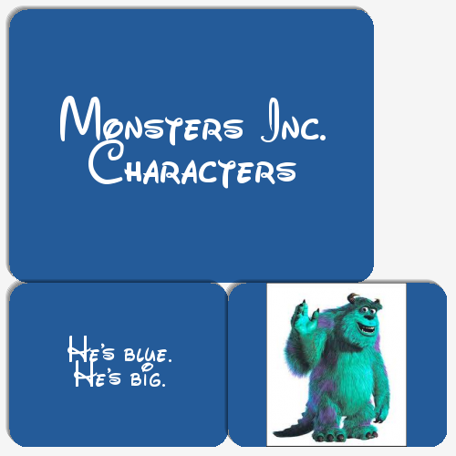 The Monsters inc Memory Game