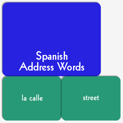 Spanish Address Words