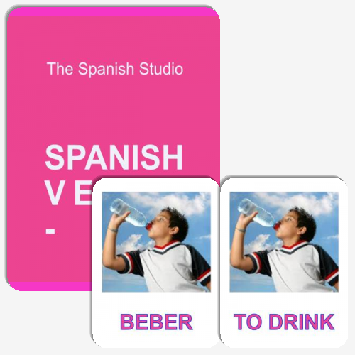 Spanish Verbs Matching Cards -ER